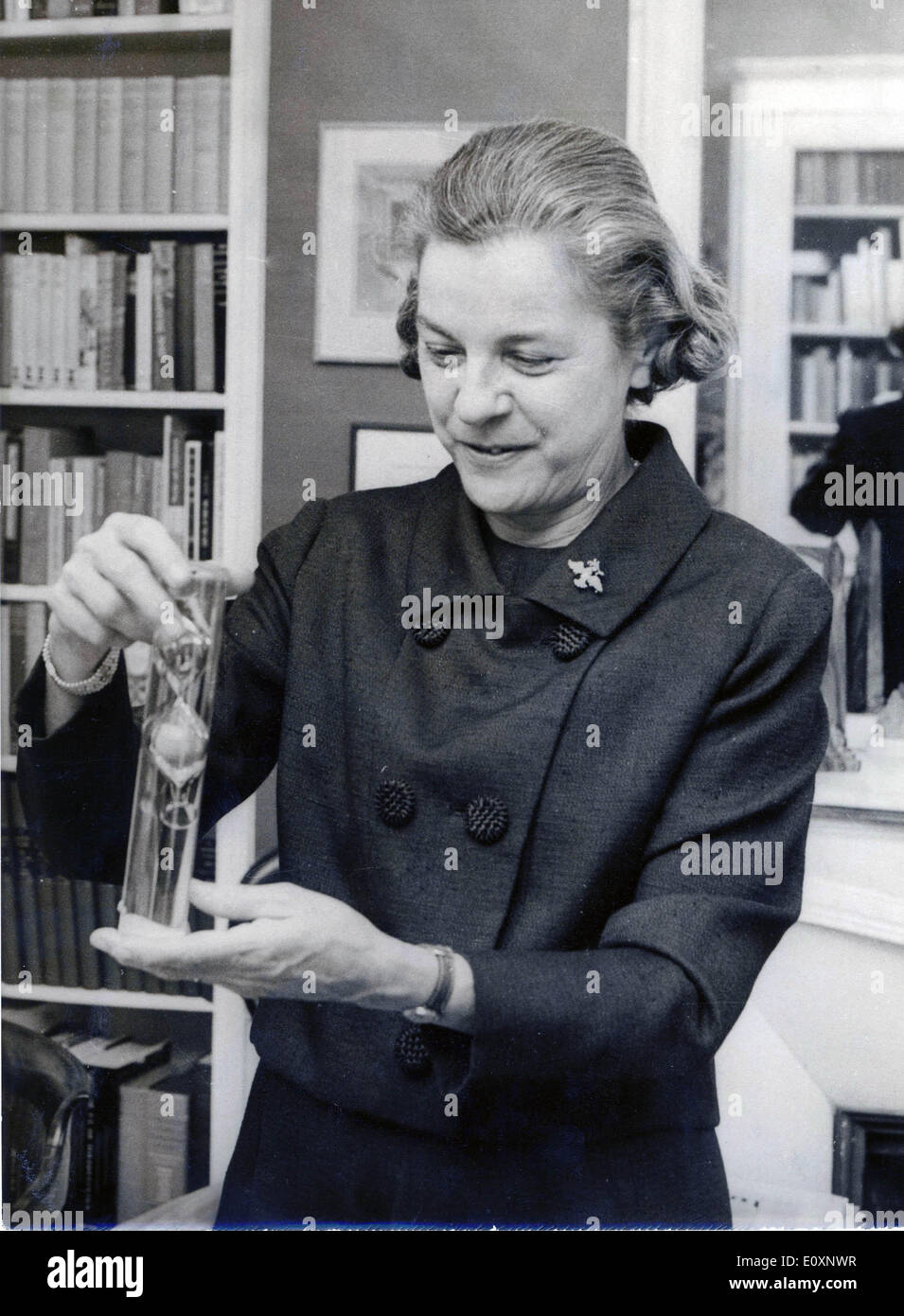 June 21, 1967 - Paris, France - Writer, Novelist MARY MCCARTHY in her office in Paris. - Stock Image