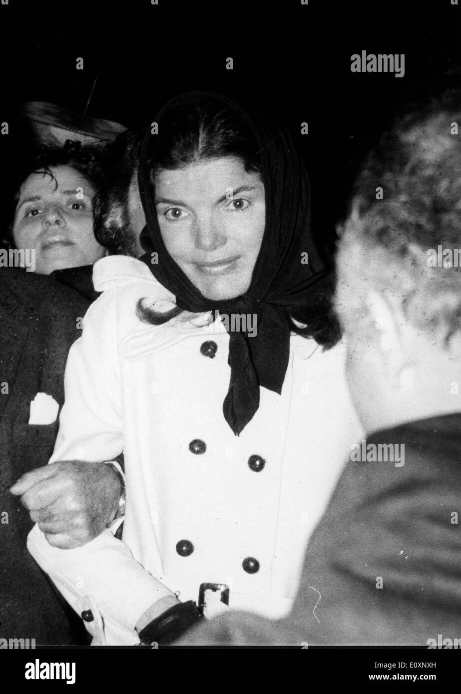 Jacqueline Kennedy Onassis with husband Aristotle Onassis (not shown) - Stock Image
