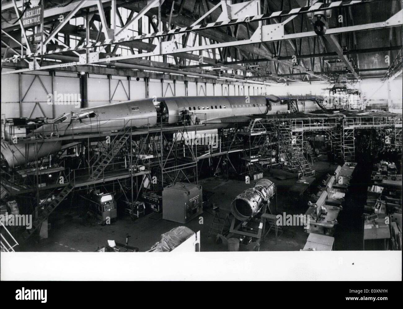 Jun. 30, 1967 - Concord Jet Under Construction in Toulouse - Stock Image