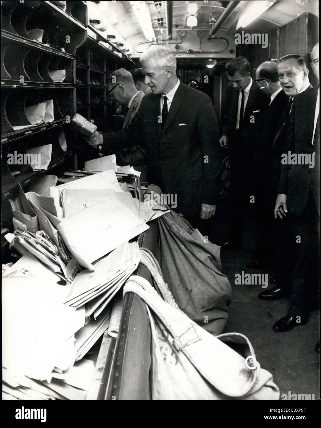 Jul. 07, 1967 - Postmaster General opens postal fortnight, 1967. Following the success of the Postal week held in Stock Photo