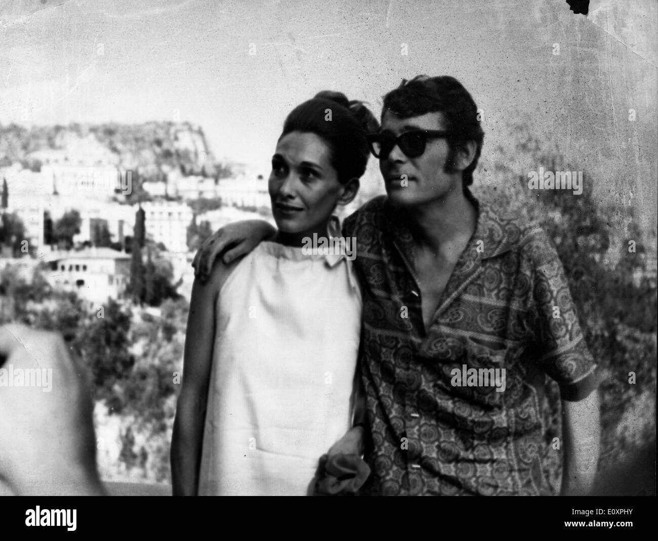 Actor Peter O'Toole and his wife Sian Phillips during a press conference - Stock Image