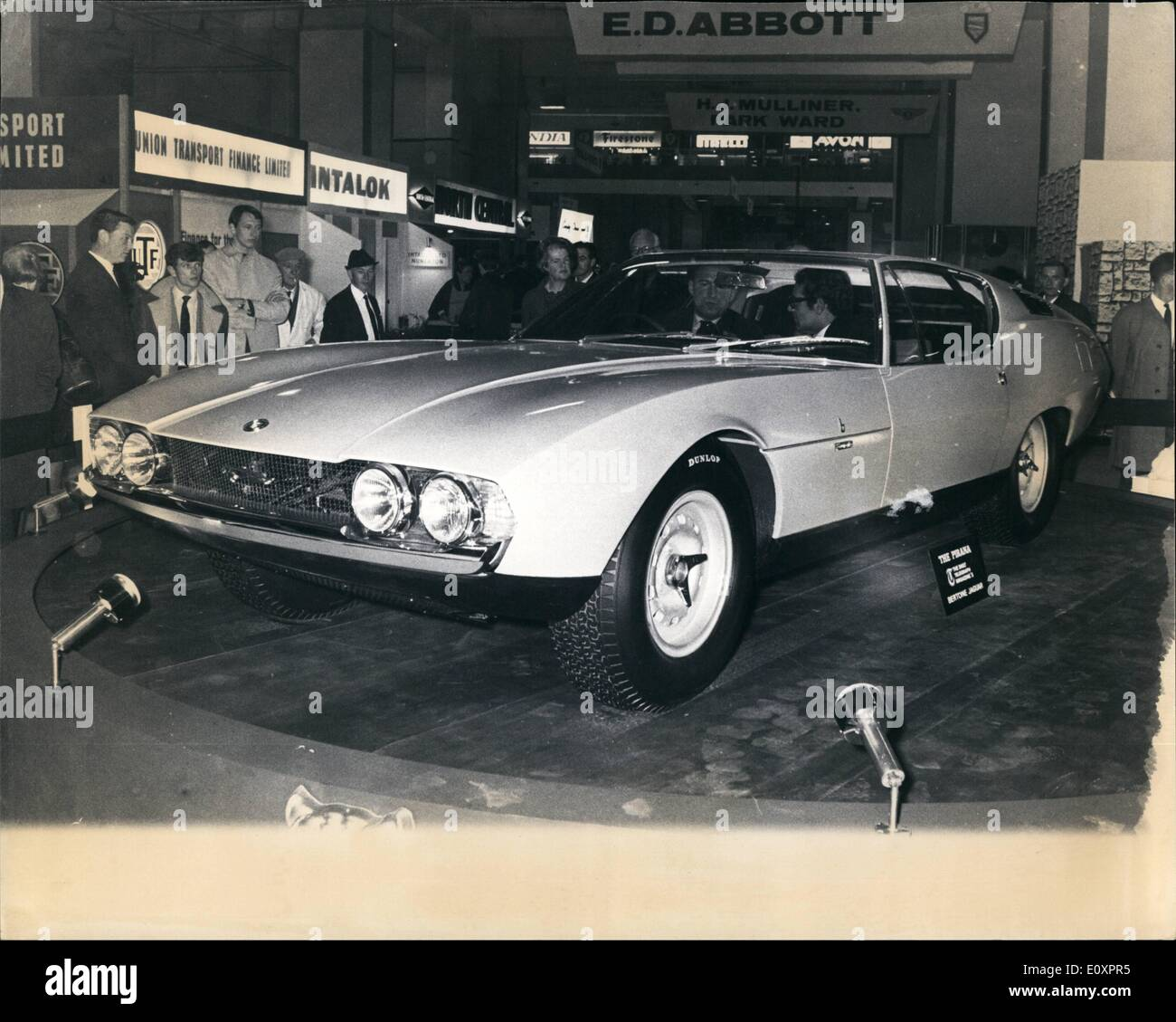 Oct. 10, 1967 - Press preview of the Motor Show, The Ideal Car: Motoring comfort from the luxury bracket one upmanship that comes from exclusive styling in exterior and interior coachwork, the security of built in safety vital to high road performance and matching a maximum speed in the 140 mph range. These were the ideas that went into ''the ideal car'' of the Daily Telegraph Magazine and desirable sports coupe which is unveiled to the public at the Motor Show, which opens tomorrow at Earl's Court - Stock Image