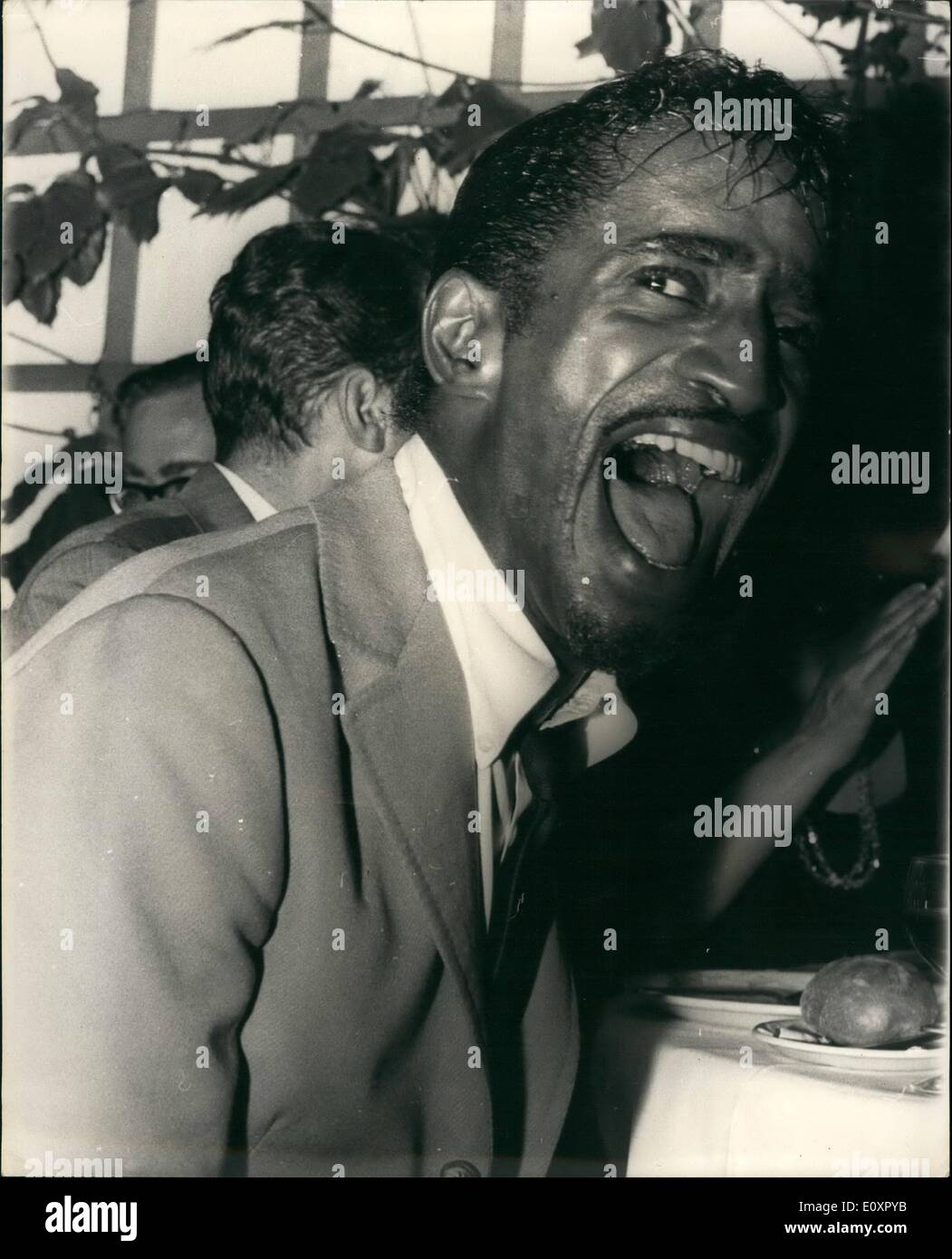 Aug. 08, 1967 - Sammy Davis' And His Pal Gerry - An All-Night Party When Sammy Davis Jr., heard Gerry Mardsen and Stock Photo
