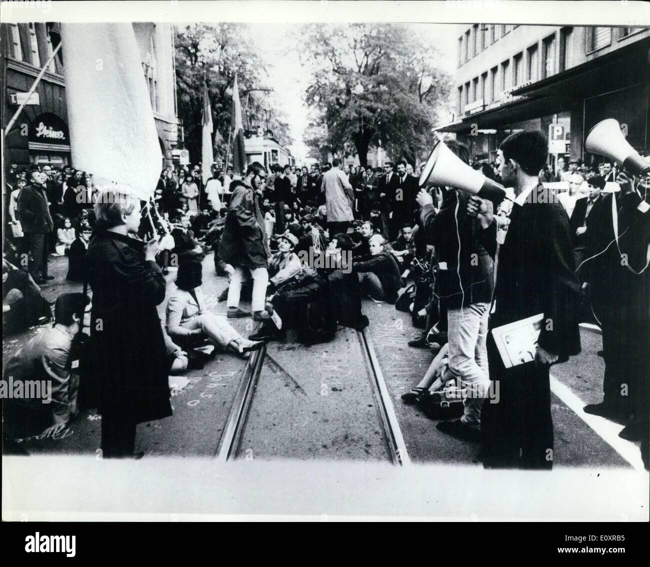 Oct  10, 1967 - Ati-Vietnam War Demonstration In zurich: Like many