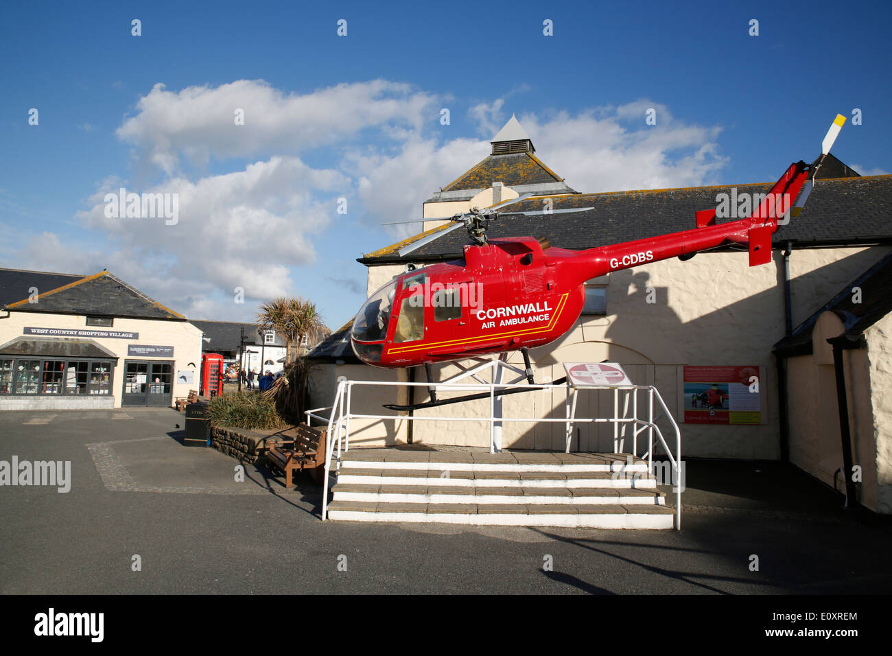 Land's End; Visitor Complex; Helicopter; Cornwall; UK - Stock Image