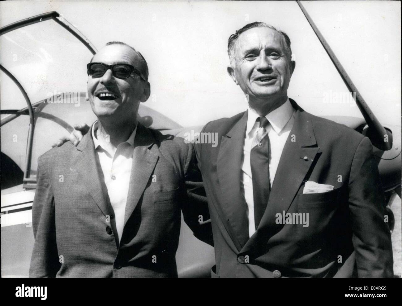 Aug. 09, 1967 - Pol Dessalas and Jacques Terrasson - Stock Image