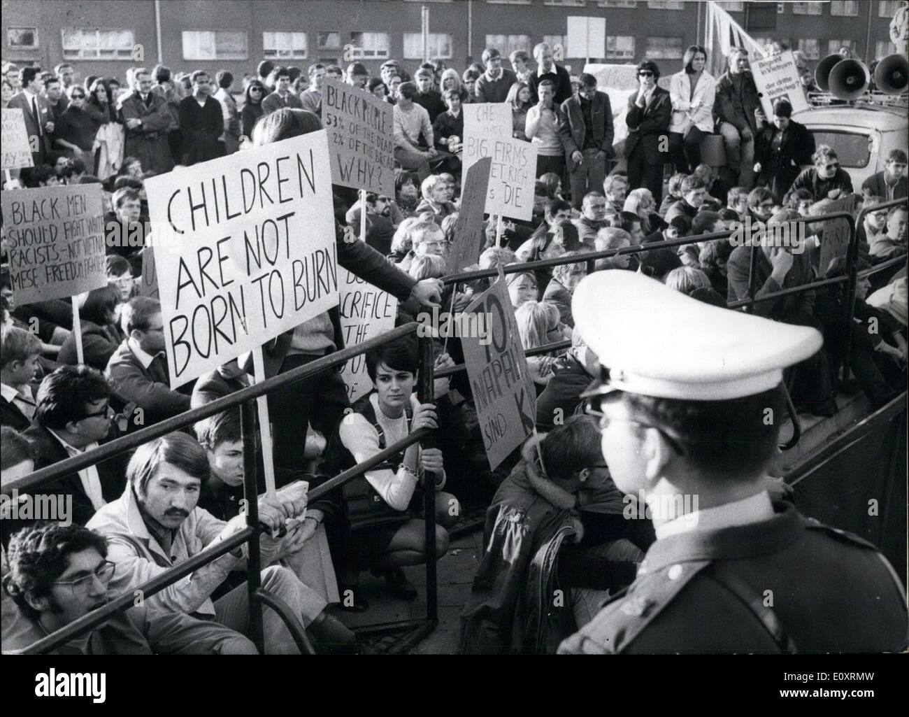 Oct. 23, 1967 - Protests across the world occurred on the October 21/22 weekend against US actions in Vietnam. Washington D.C., - Stock Image