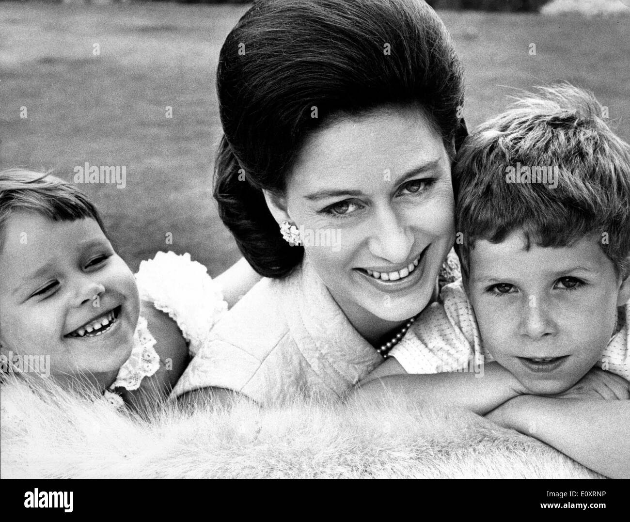 Portrait Of Princess Margaret And Her Children Stock Photo Alamy