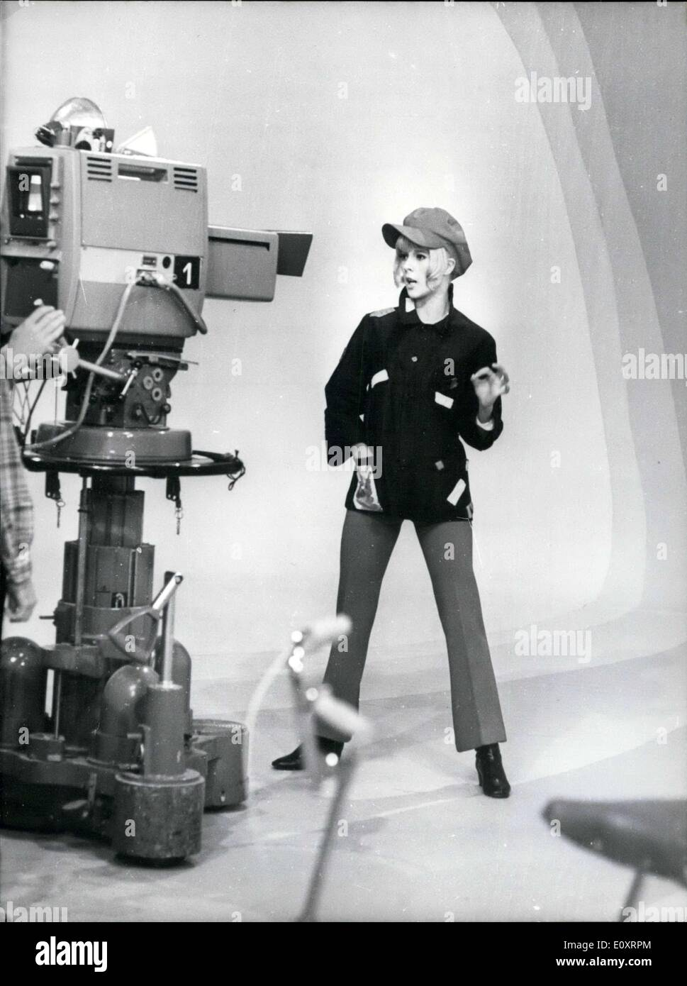Nov. 03, 1967 - Sylvie Vartan films TV program ''Dim-Dam-Dom'' at Buttes-Chaumont studios.  US - Stock Image