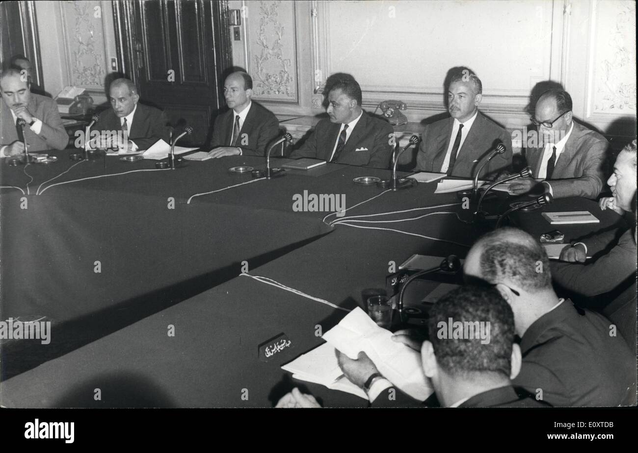 Sep. 09, 1967 - UAR Cabinet Meeting: Cairo, (UAR): President Gamal Abdel Nasser Presided Over The Cabinet Meeting - Stock Image