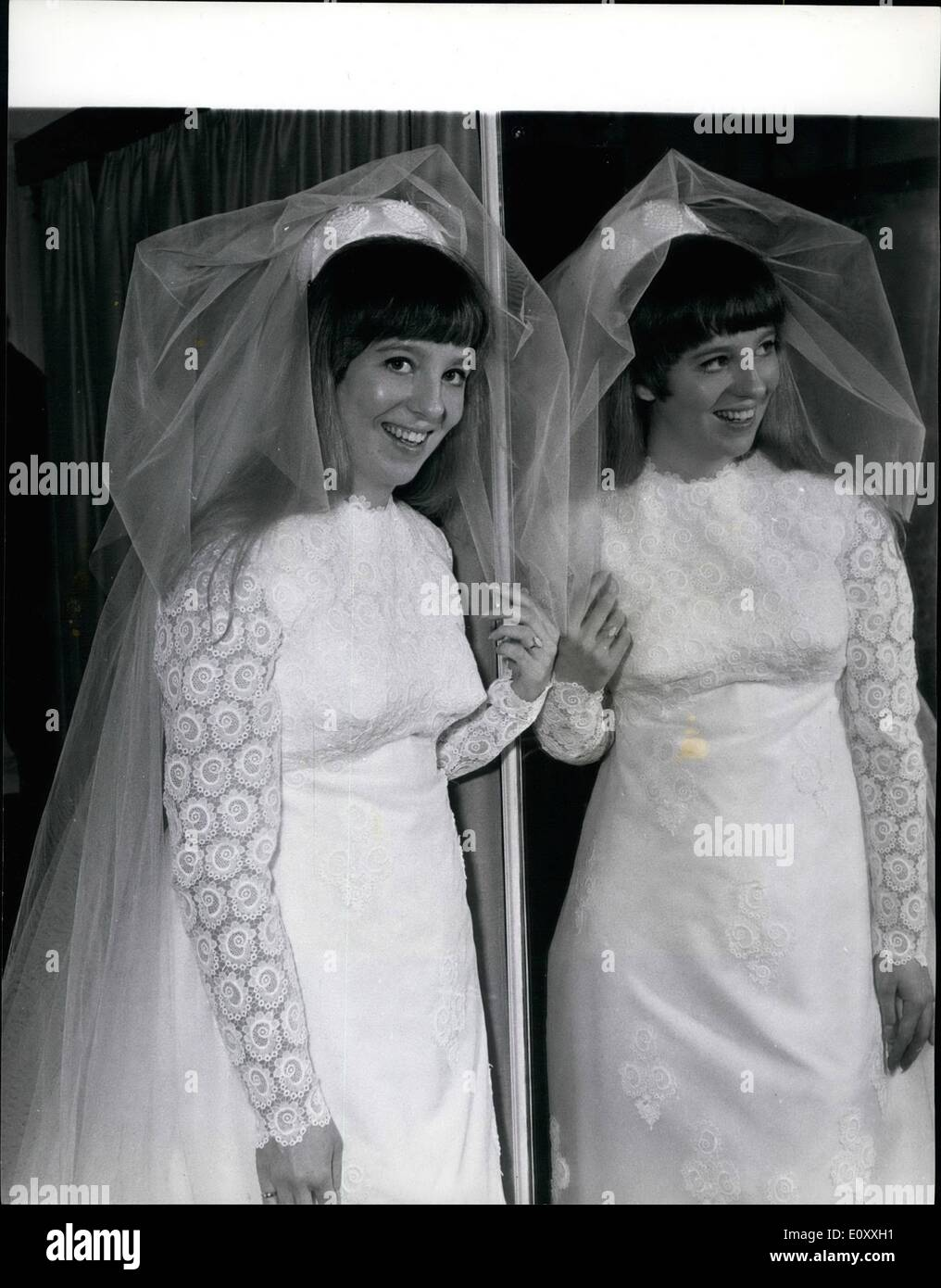 Jan 01 1968 Linda Ludgrove Tries On Wedding Dress Empire Games