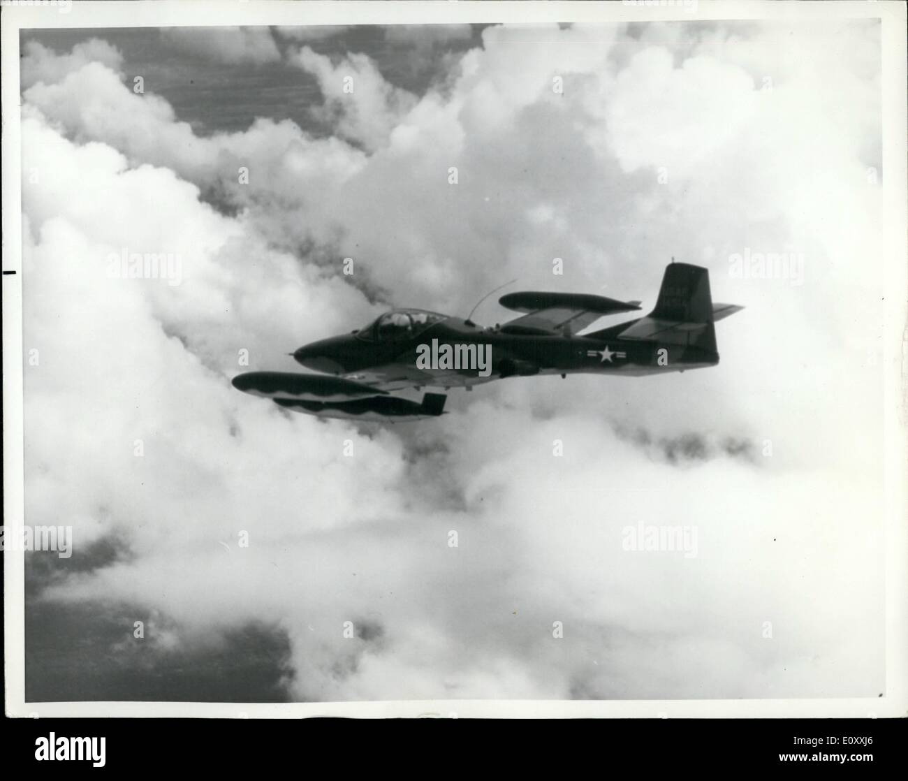 Jan. 01, 1968 - The U.S. Air force will use the A-37 jet fighter to train over 100 Vietnamese Air Force pilots at England Air Force Base, Louisiana. Each student will receive 112 hours of ground training and 85 hours of flying training. Upon graduation, the pilots will return to the Republic of Vietnam. The A-37built by Cassena Aircraft Company, Wichita, Kansas, is a lightweight, twin-engine, subsonic around attack aircraft designed for close air support of ground force, interdiction and limited warfare - Stock Image