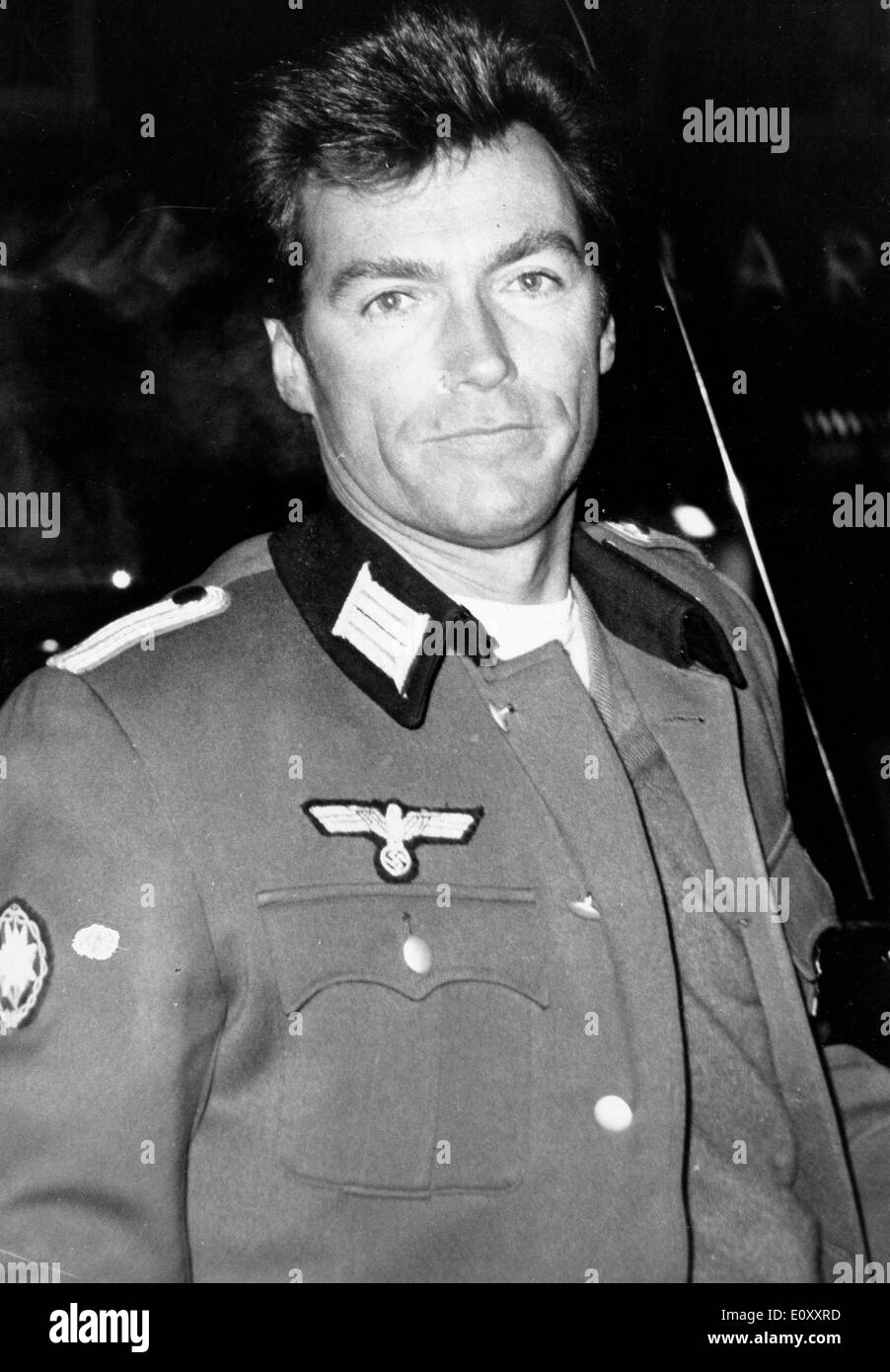 Actor Clint Eastwood dressed in a military uniform - Stock Image