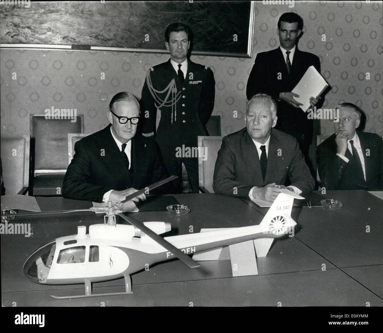 Apr 04 1968 Anglo French Helicopter Agreement M Pierre Messmer