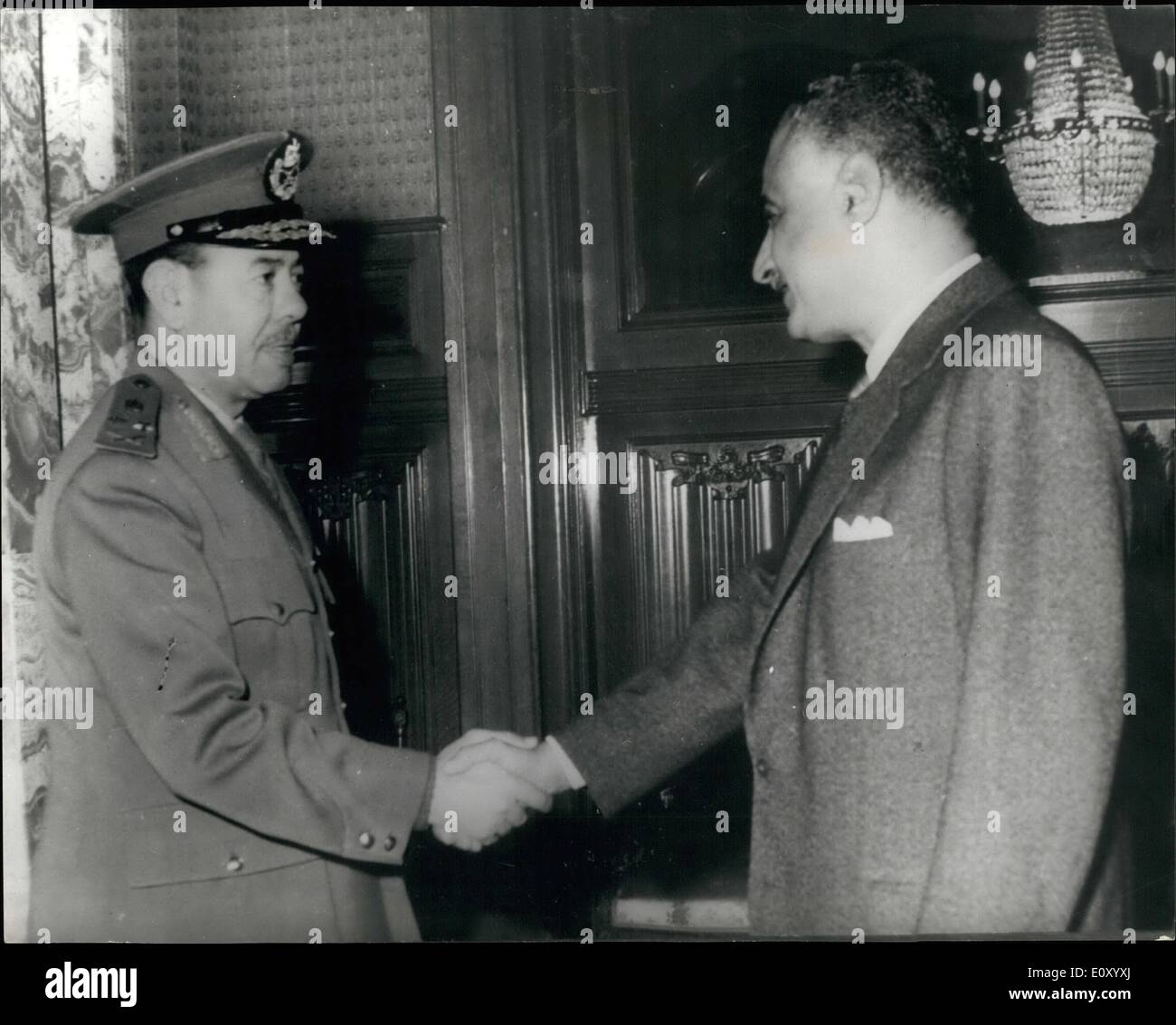 Feb. 02, 1968 - New U.A.R. war Minister sworn in: The New War Minister and Commander in chief of the UAR armed forces, - Stock Image