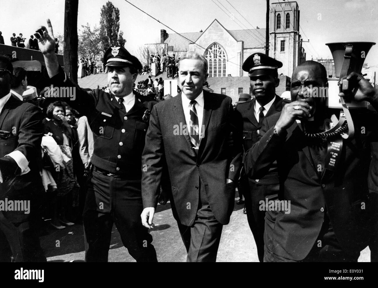 Senator Joe McCarthy at MLK Jr. funeral - Stock Image