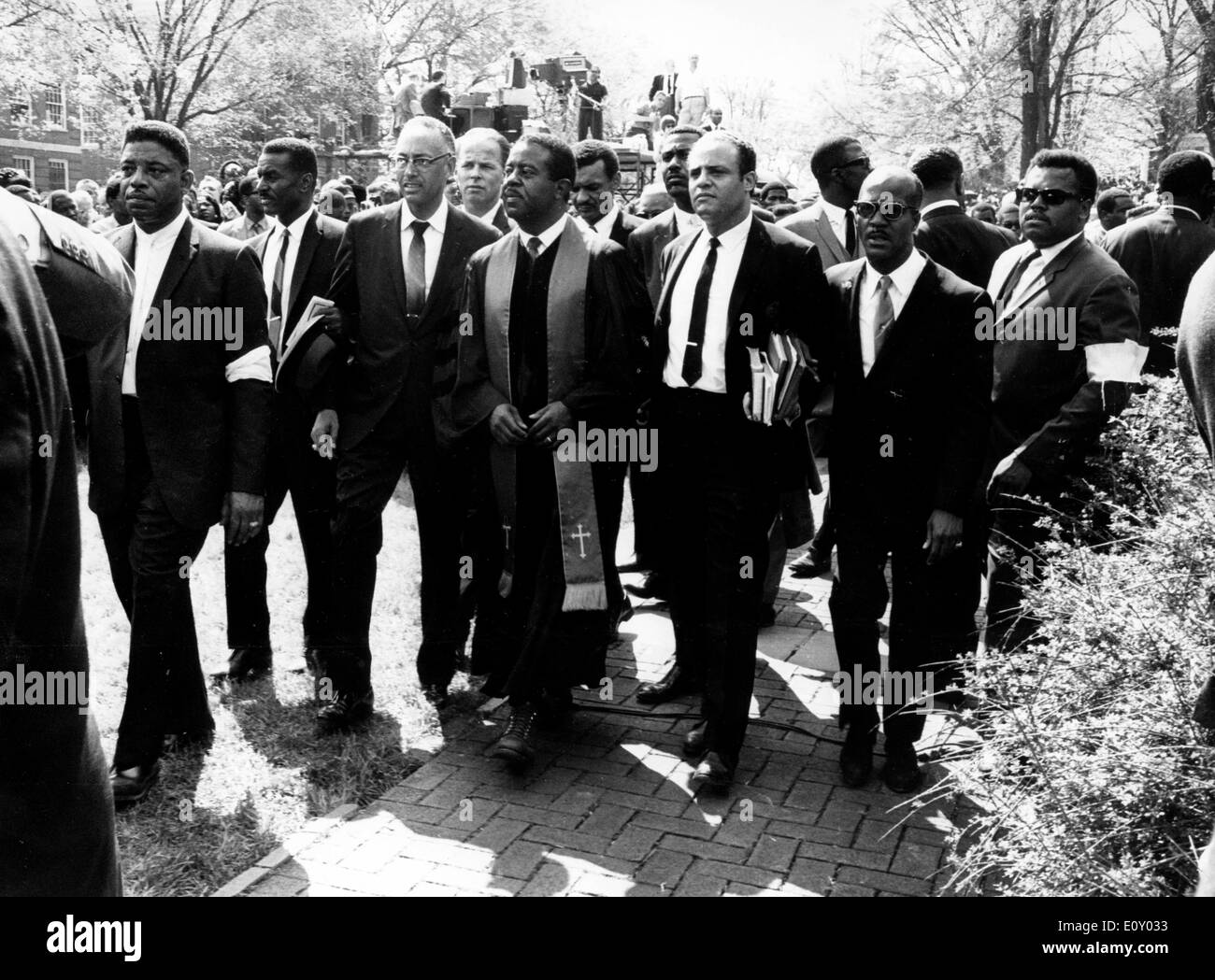 Funeral of reverend Martin Luther King Jr. Stock Photo