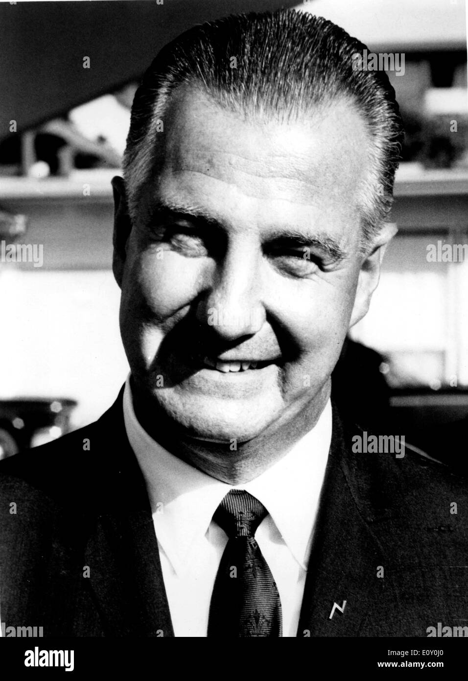 Feb 15, 1968; Washington, VA, USA; THEODORE SPIRO AGNEW, Vice President of the United States was born in Baltimore, November 9, - Stock Image