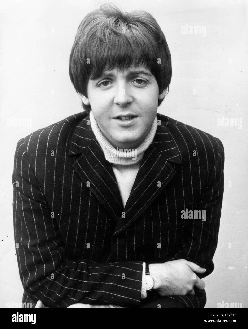 Portrait of singer Paul McCartney - Stock Image
