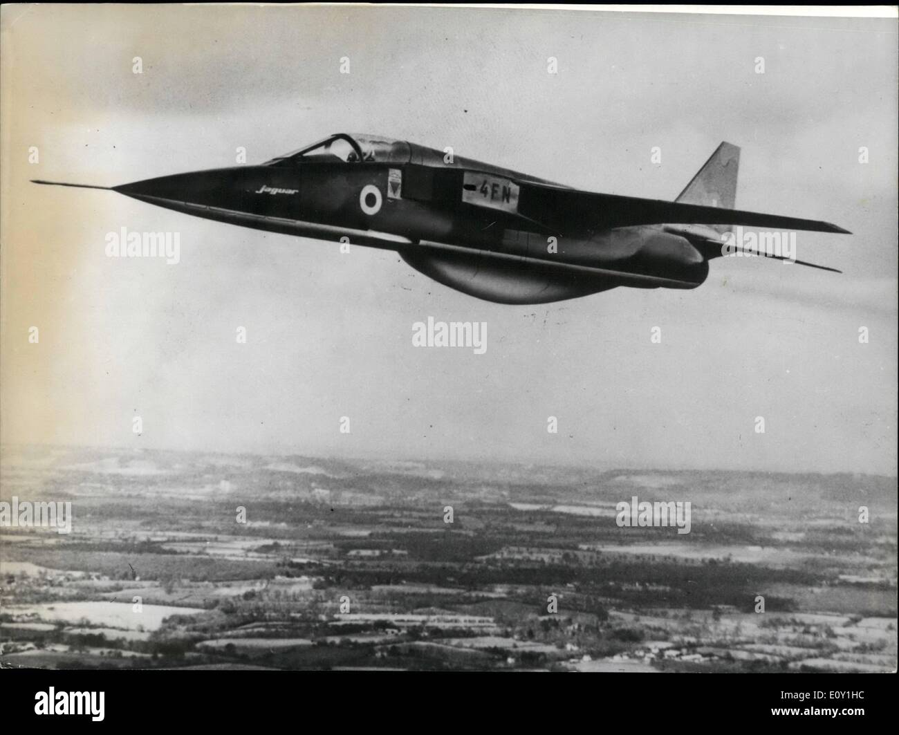Mar. 03, 1968 - First Prototype of ''Jaguar (Reconnaissance version) to be shortly completed; Photo Shows An artist's Impression of t he new ''Jaguar'' (Reconnaissance version) now being completed at sud aviation works. - Stock Image