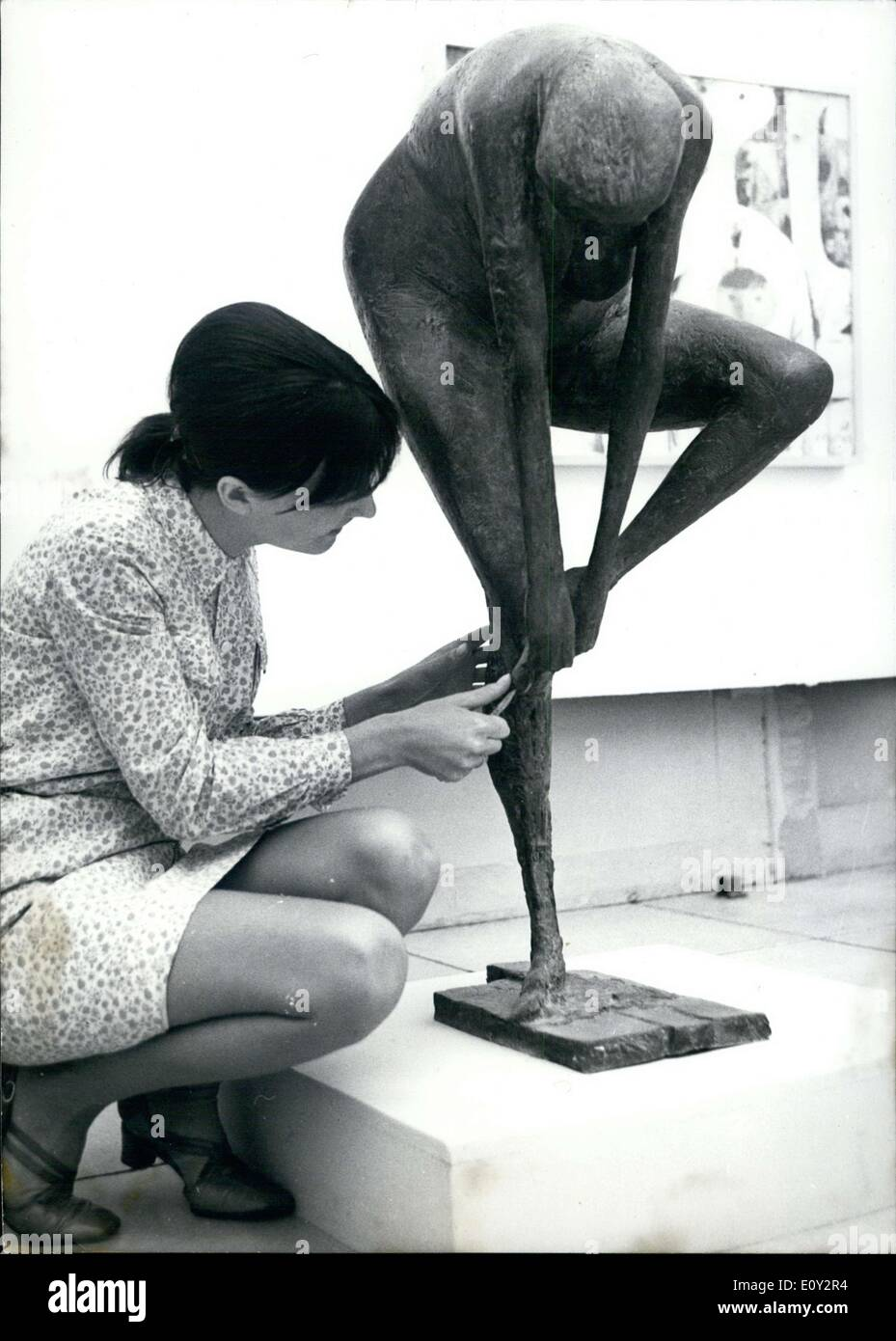Jun. 10, 1968 - This 110x45cm sculpture by Berlin sculptor Waldemar Otto was one of many on display at a large art exhibition in Munich, where over 1,000 pieces of art were shown. - Stock Image