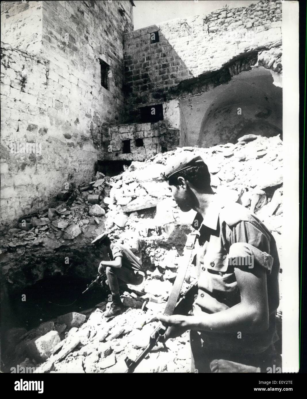 Sep. 09, 1968 - House Demolished In Nablus After Finding Of Sabotage Material Nablus, know as a centre of terrorism and El-Fath - Stock Image