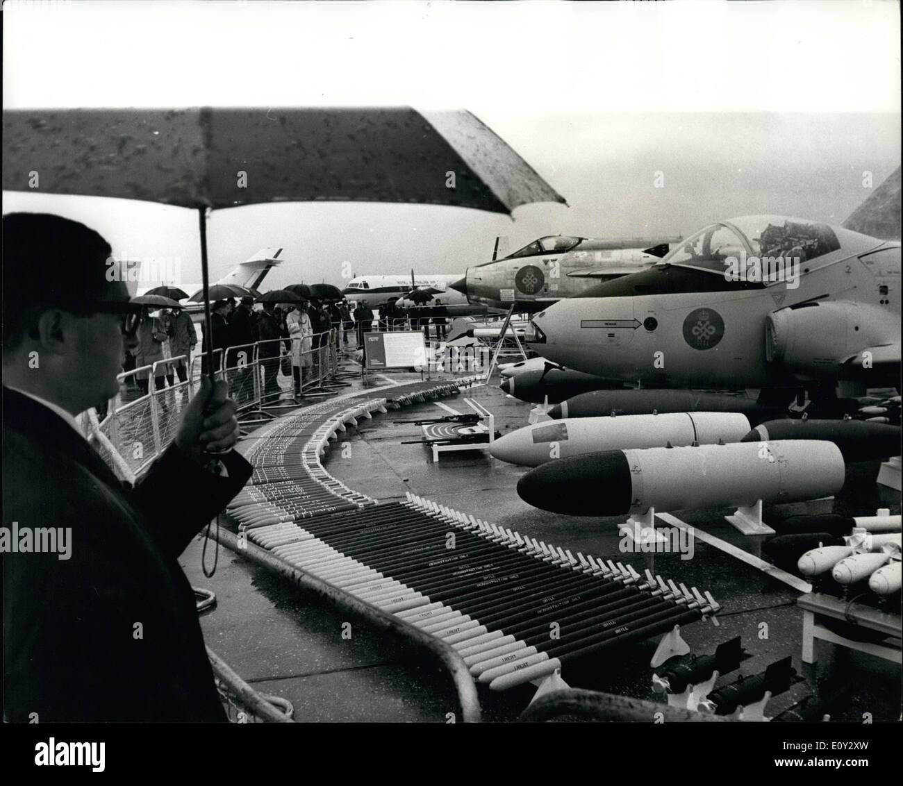 Sep. 09, 1968 - Flying Display For V.I..'s Farnborough: Today was V.I.P.'s day at the Farnborough Air Show were Stock Photo