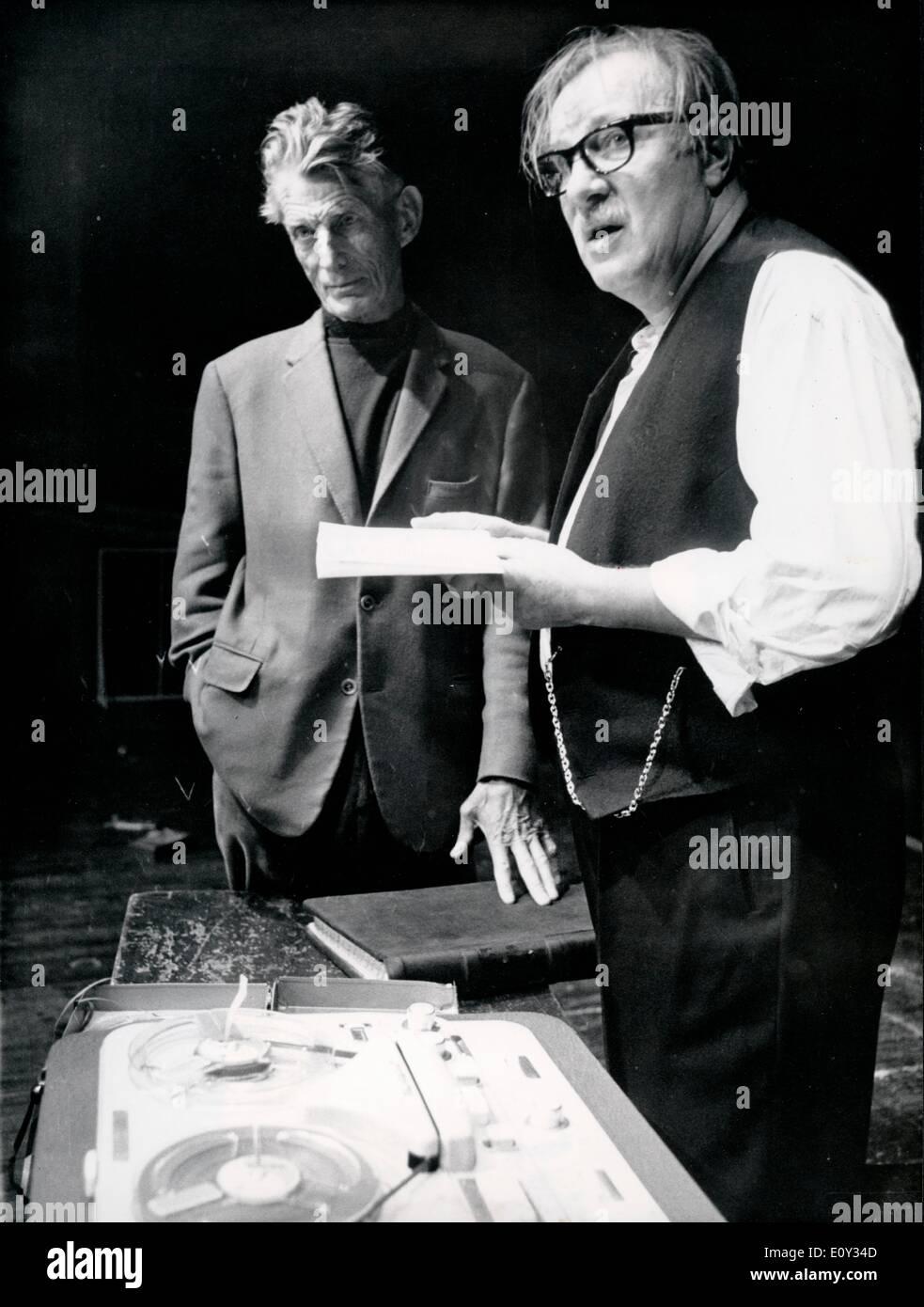 Playwright Samuel Beckett with Martin Held - Stock Image