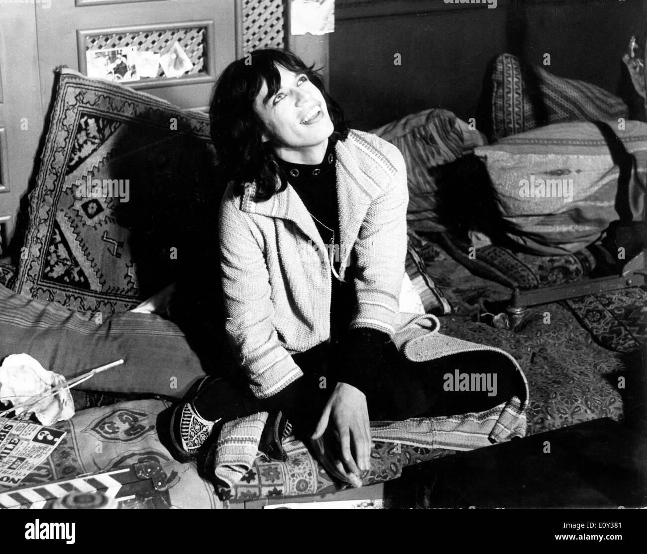 Singer Mick Jagger films, 'Performance' - Stock Image