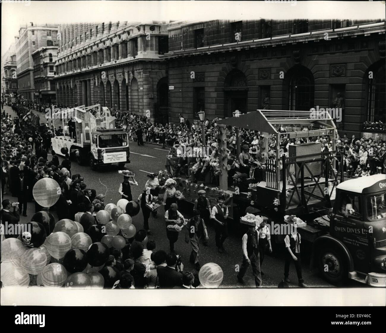 Jul. 13, 1968 - Children's day in the city of London ''(illegible)'': As part of the City of London Festi ''(illegible)'' Stock Photo