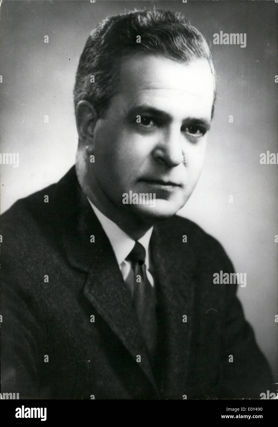Oct. 10, 1968 - Queb EC: Jean-Jacques Bertrand takes over: Photo Shows Portrait of Jean-Jacques B ertrand, former Minister of Justice, who succeeds Daniel Johnson as Prime Minister of Quebec. - Stock Image