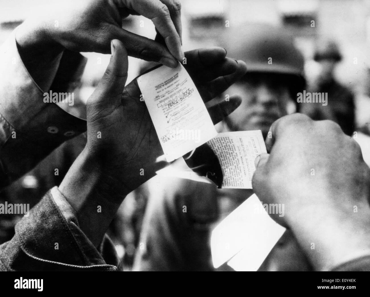VIETNAM WAR: Protests - Stock Image