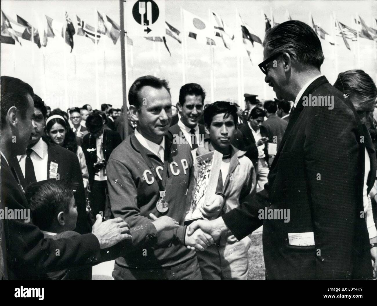 Oct. 20, 1968 - Soviet Shooter, Grigory Kosykh at the Mexico City Olympic Games - Stock Image