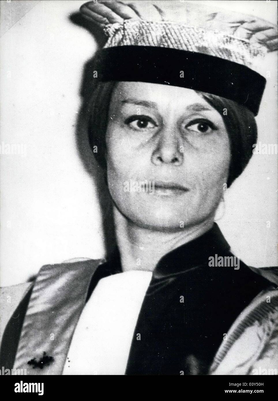 Nov. 05, 1968 - Aline Picard (pictured) was elected dean of the Arts and Humanities Department at Brest. Aline Picard who has been at the head of the literary college of this university since 1966. - Stock Image