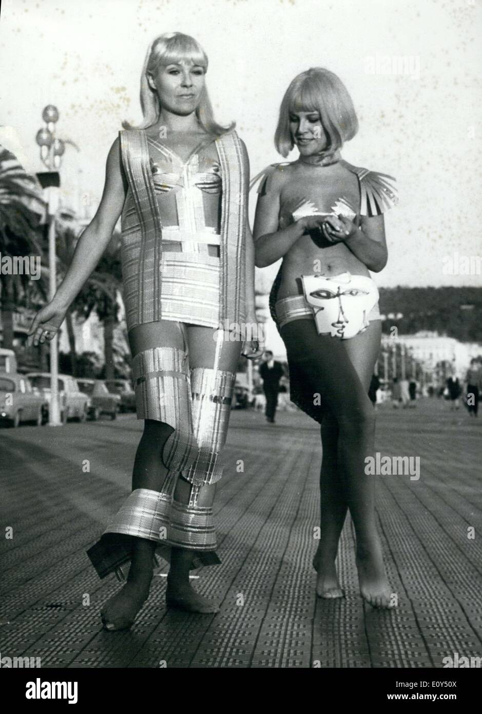 Nov. 07, 1968 - Futuristic Lunar Styles in Nice Fashion Show - Stock Image