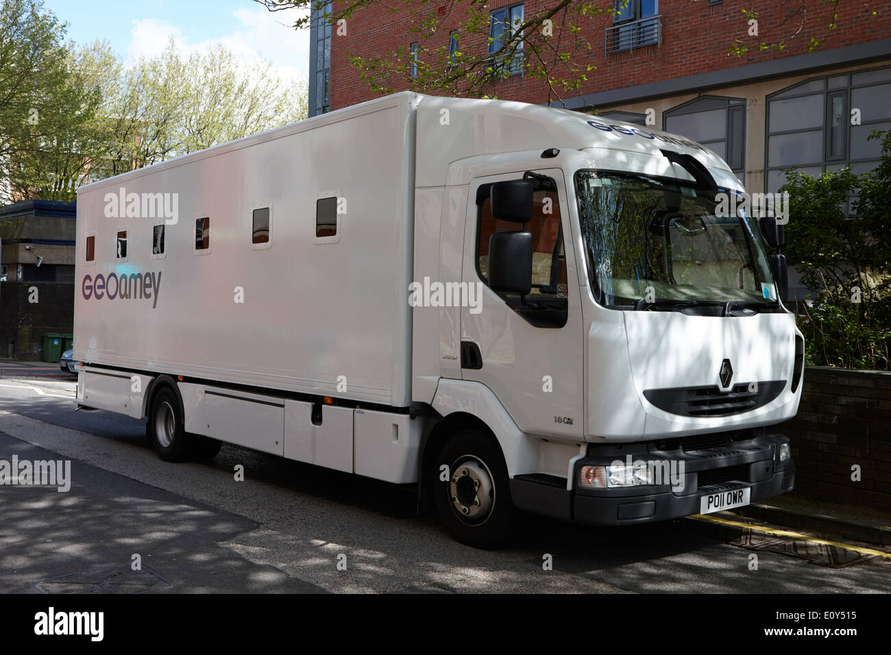 geoamey prisoner escort and custody service vehicle Preston England UK - Stock Image