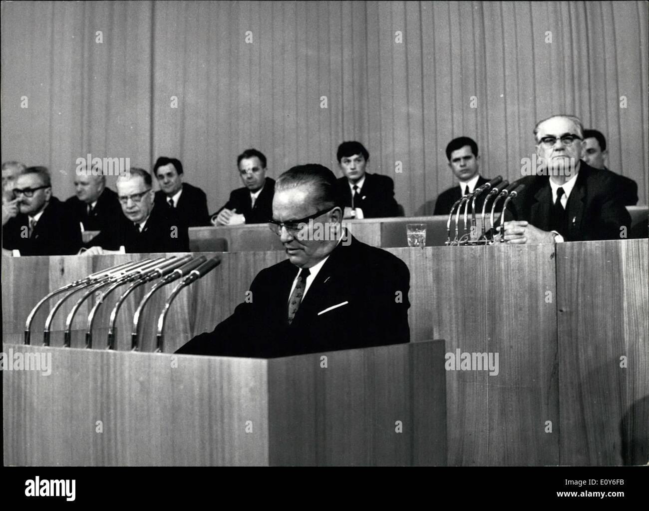 Mar. 03, 1969 - The ninth congress of the league of communists of Yugoslavia. The IX Congress of the LCY opened - Stock Image