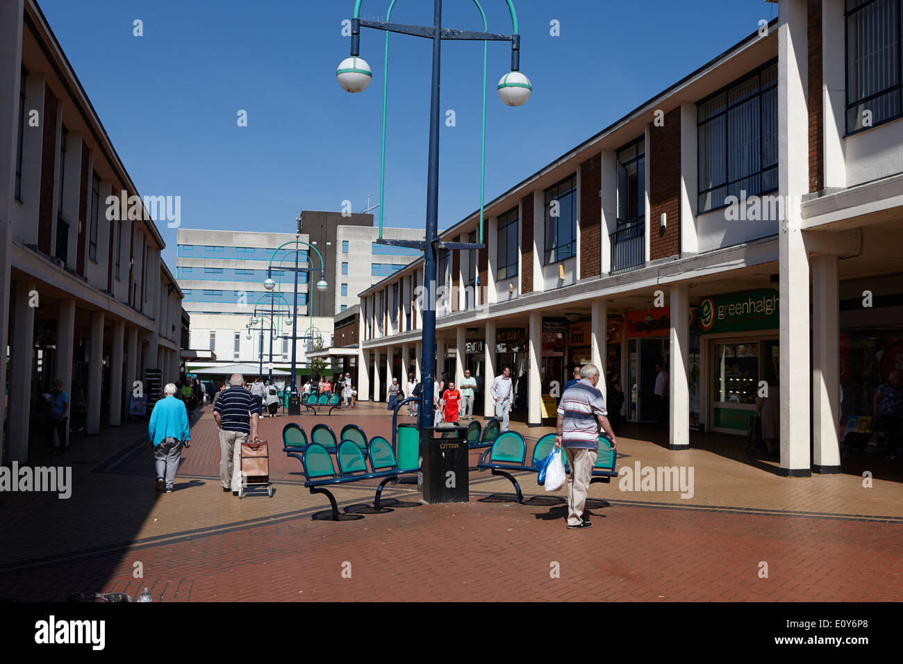 Kirkby town centre 1960s town planning Merseyside England UK - Stock Image