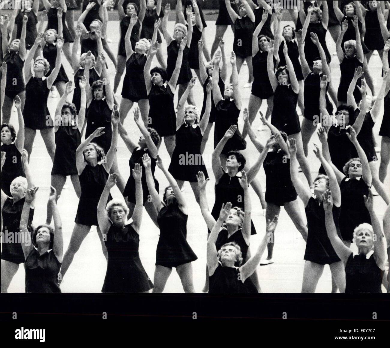 Mar. 07, 1969 - A world symphony of rhythm and grace. OPS: Even housewives, here from the Netherlands, take part Stock Photo