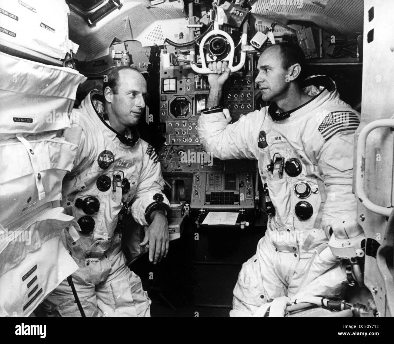 Apollo 12 Astronauts Pete Conrad and Alan Bean - Stock Image