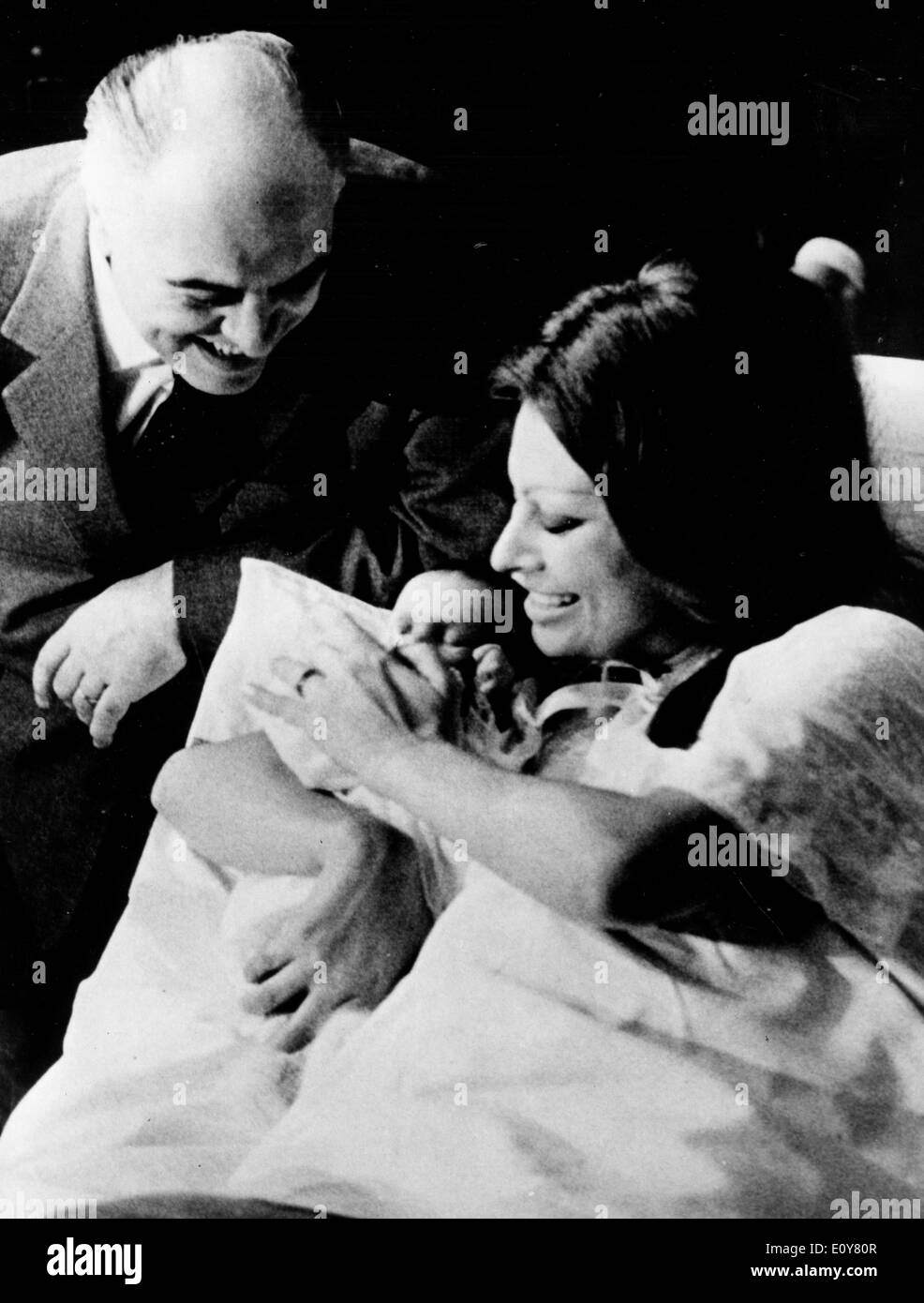 Actress Sophia Loren and Carlo Ponti have baby boy - Stock Image
