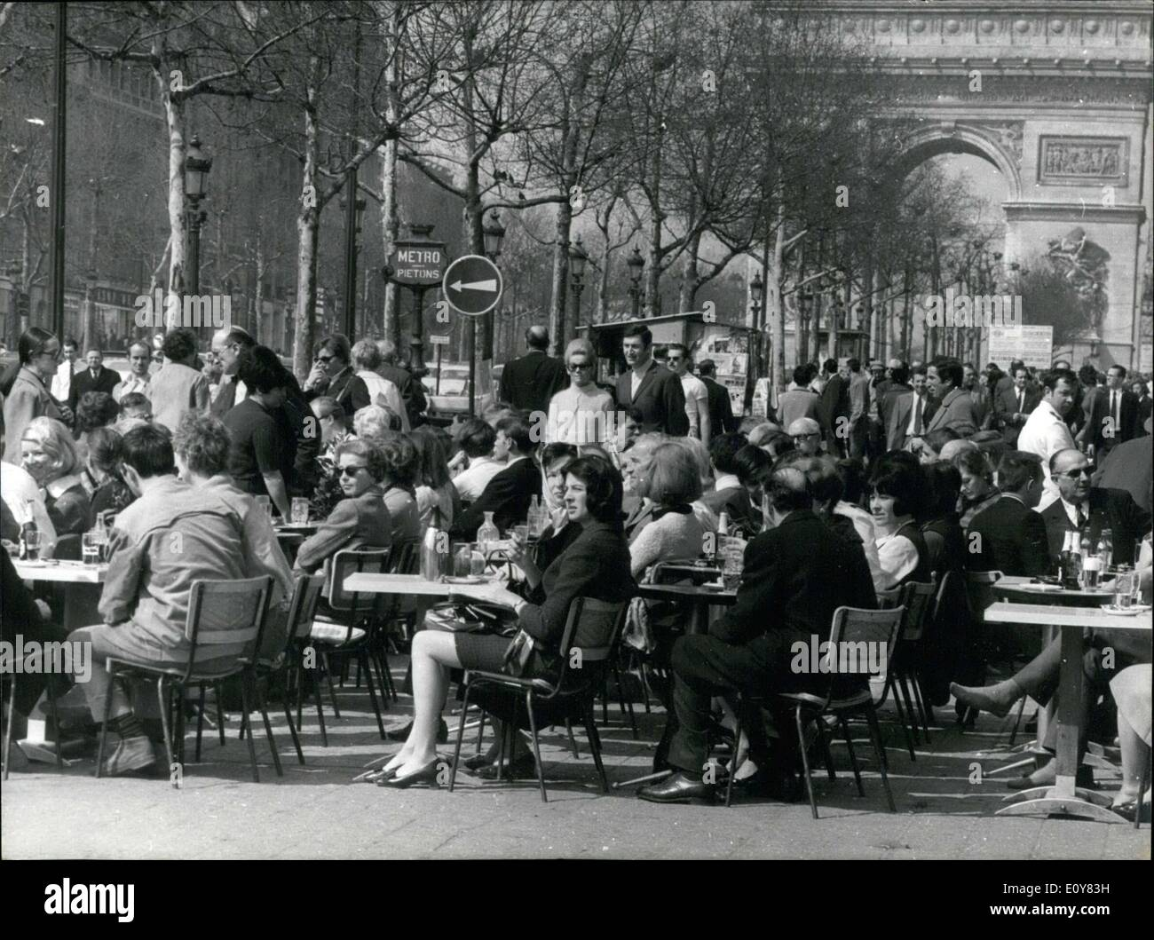 Apr. 08, 1969 - Foreigners and Provincials Celebrate Easter Holiday in Paris ESS.co - Stock Image