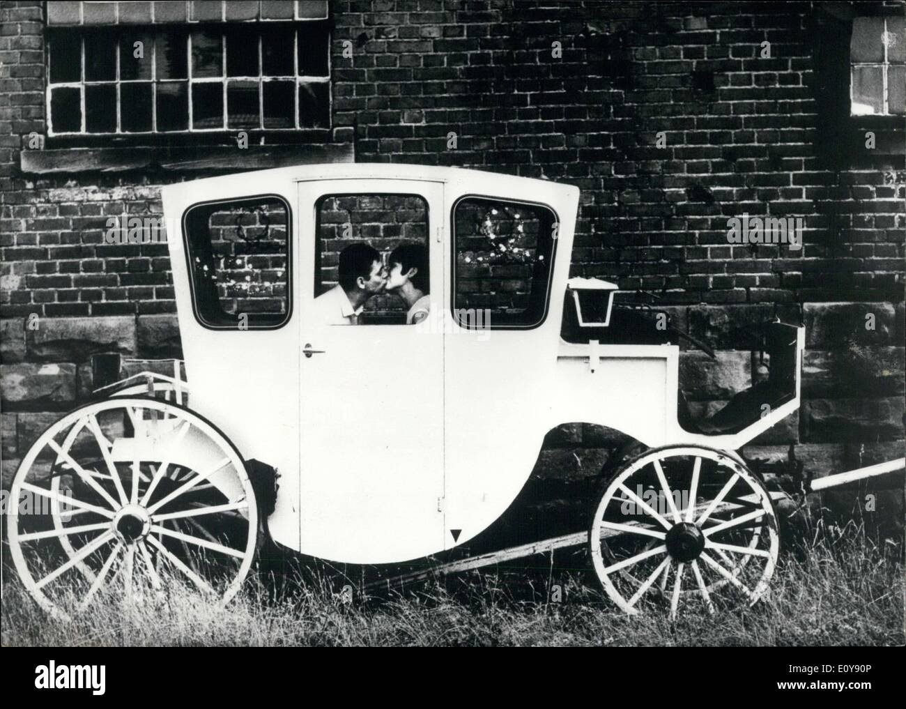 May 21, 1969 - This white marriage carriage was photographed as part of the Dr. Burno Uhl Competition of the Association of German Amateur Photographers. - Stock Image