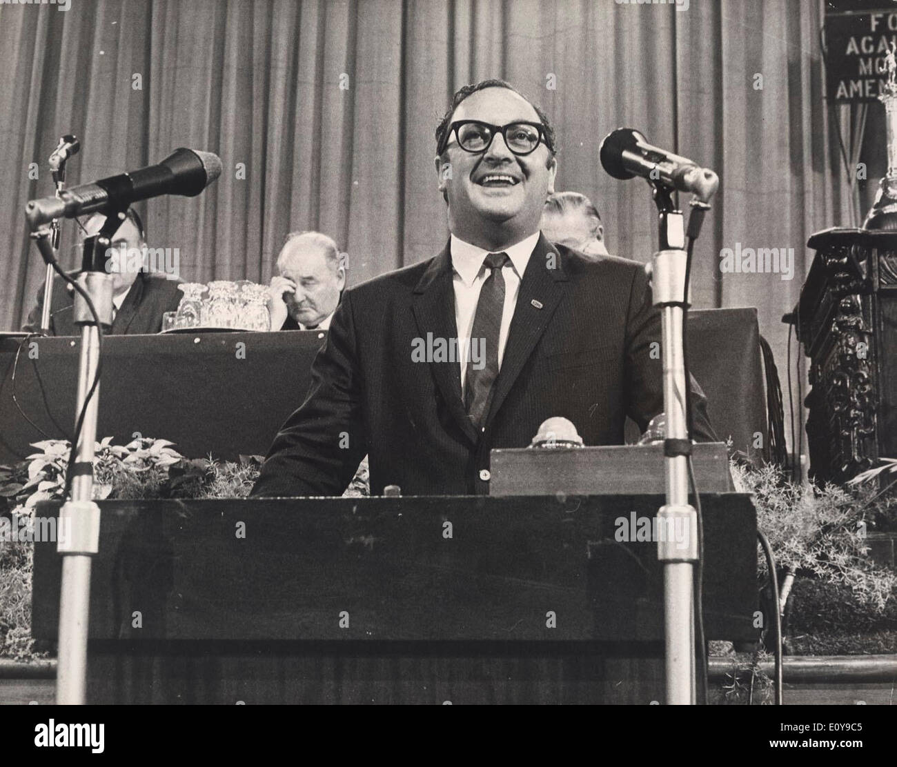 Sep 05, 1969 - Portsmouth, England, United Kingdom - CLIVE JENKINS, joint general secretary of the Association of Scientific, Technical and Managerial Staffs, speaks at the Trades Union Congress. - Stock Image