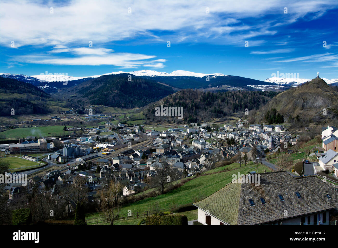 Town of Murat, Cantal, France, Europe - Stock Image