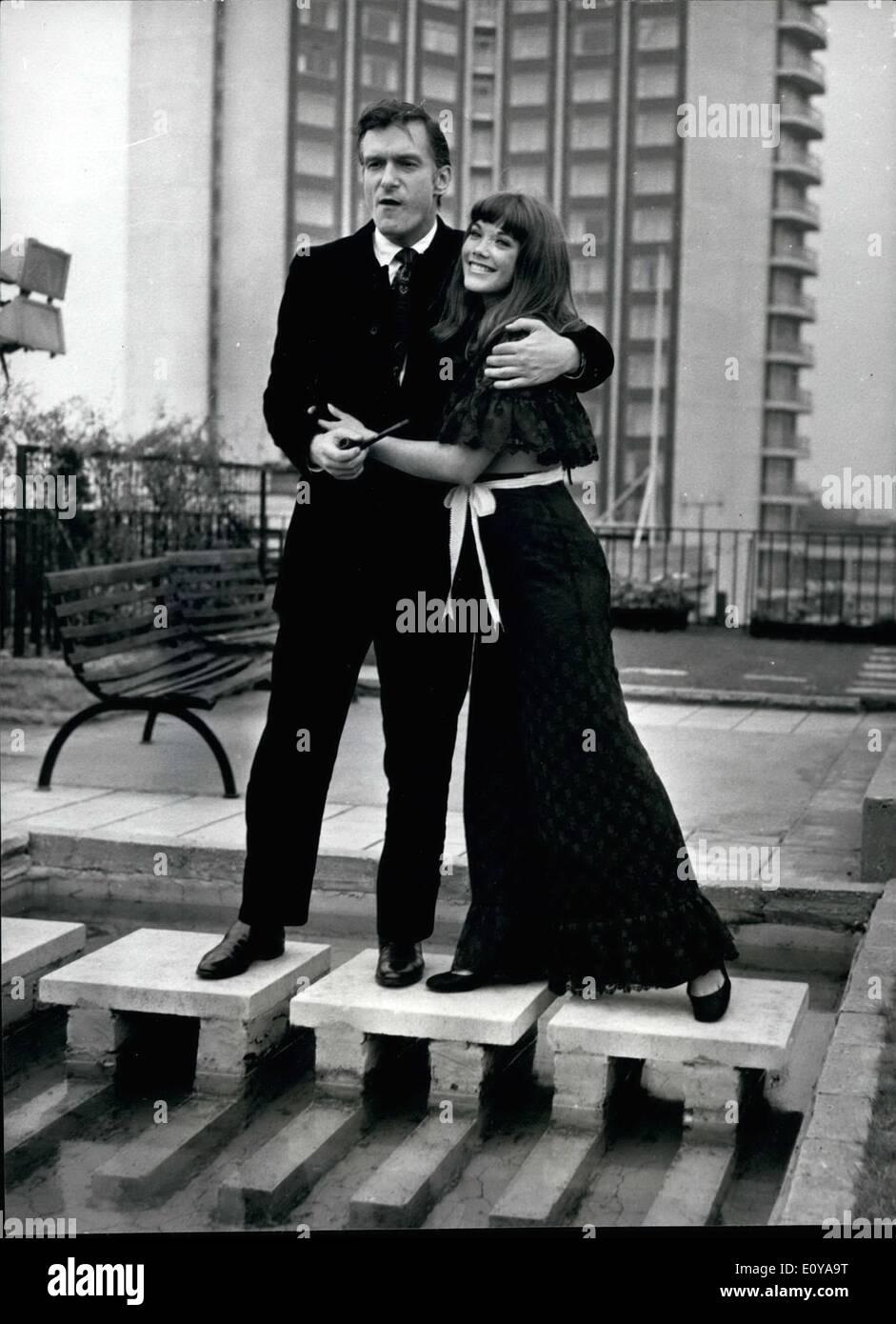 Sep. 09, 1969 - Hugh Hefner Holds Press Conference In London: Mr. Hugh Hefner, Editor/Publisher of Playboy Magazine, Stock Photo
