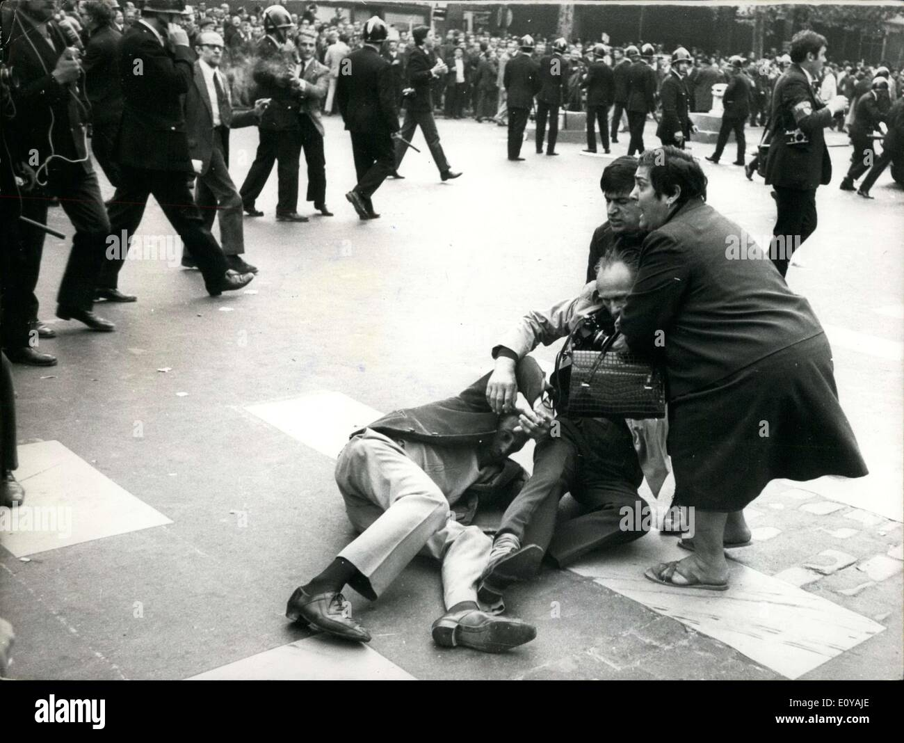 Sep. 13, 1969 - Two Injured Protest at Meeting Merchants Artisans Prince Park APRESS.c - Stock Image
