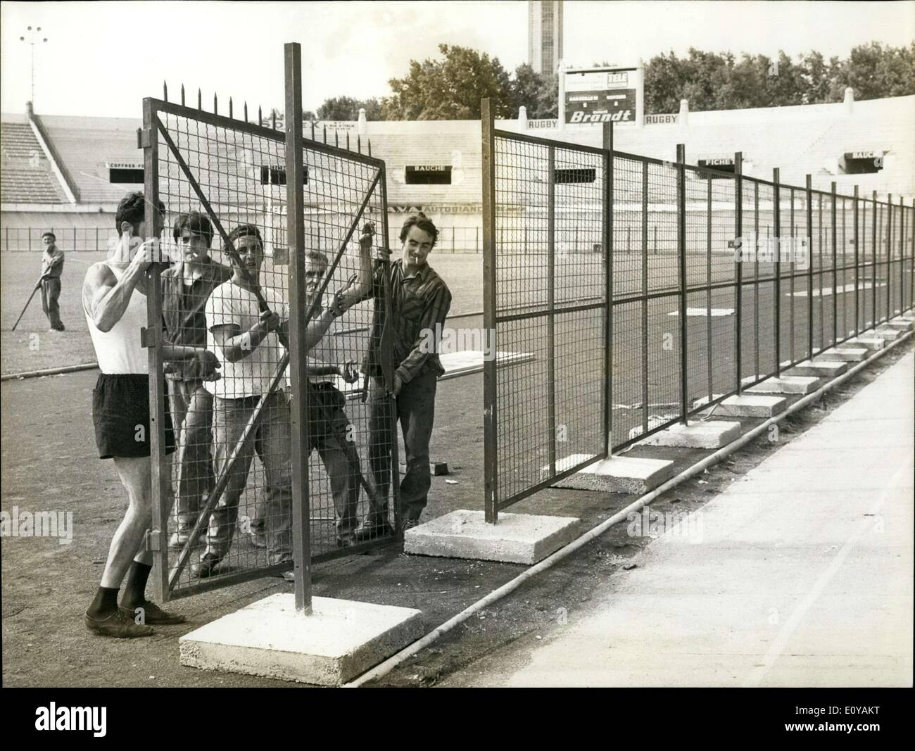 Sep. 18, 1969 - Added Security for Marseille Saint-Etienne Match in Marseille .c - Stock Image