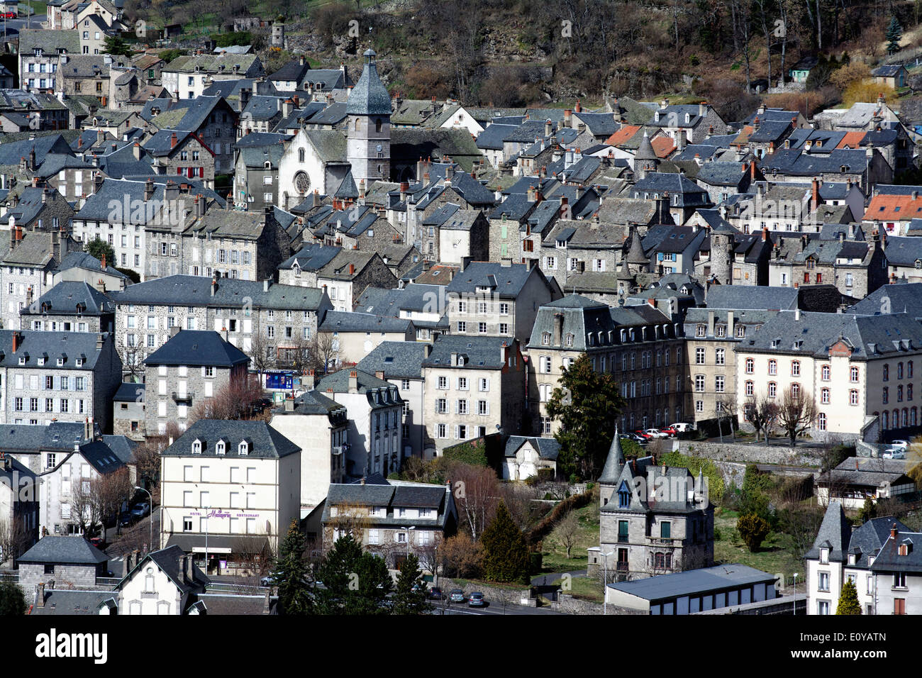 Town of Murat in Cantal, Auvergne, France, Europe - Stock Image