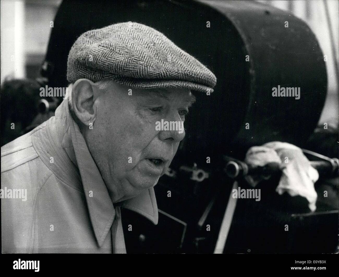 Jul. 09, 1969 - He is filming a TV program that will consist of four sketches, which will also eventually be show in movie theaters as well. - Stock Image